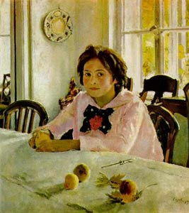 Valentin Serov. Girl with Peaches