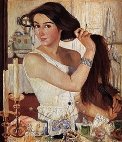 "Zinaida Serebriakova self-portrait ""At the Dressing-Table"""